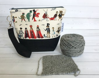 Zipper Project Bag/Small Yarn Bag/Project Bag for Knitting/Knitting Project Bag/Crochet Project Bag/Procession-Rifle Paper Company
