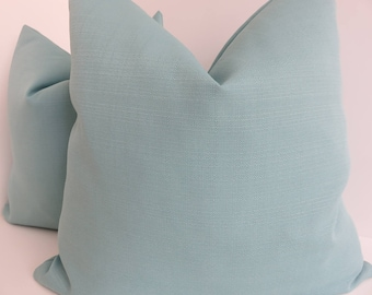 Outdoor/Indoor Teal Pillow Covers- Aqua Outddor Pillows- Outdoor Pillows- Pillow Covers- Turqupise Pillow Covers
