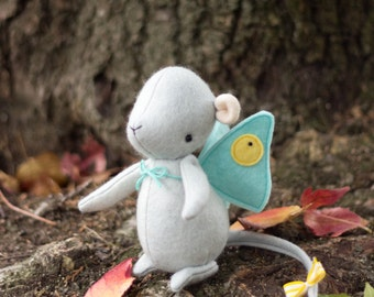 PDF Pattern - 'Winifred' - Felt Mouse Softie with Butterfly Wings -  Instant Digital Download - Plush Children's Toy
