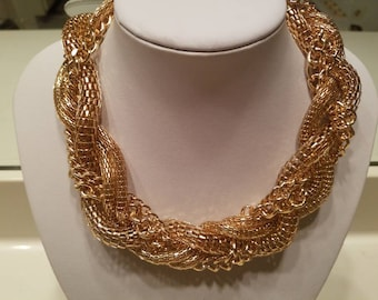 Divine Gold Braided Mix Necklace