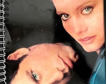 afor the Olivia Newton-John, John Travolta - Two Of A Kind GREASE 80s MTV Pop FAN Album Cover Notebook /rare Vinyl!
