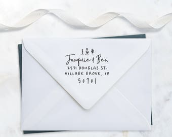 Rustic Address Stamp – Wedding Invitation Stamp – Wood Handle Address Stamp – Housewarming Gift
