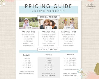 Photography Rate Card Template Aprilonthemarchco - Free pricing template for photographers