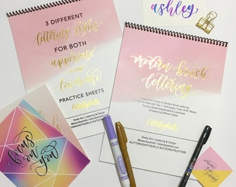 NEW   Modern Brush Lettering Kit with Style   Brush Calligraphy   Modern Calligraphy   Hand Lettering
