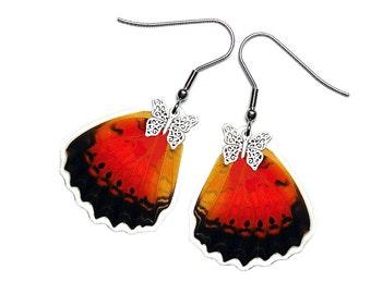 Real Butterfly Wing Earrings (Cethosia Biblis HW - E209)