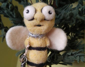 Felted Hanging Honey Bee
