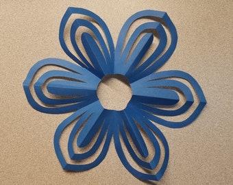 Blue Flower 3D Paper Art