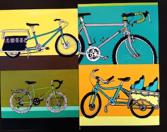 Bicycles - Set of 4 Cards