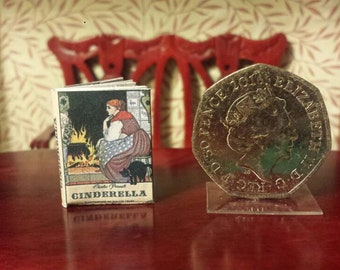 Adorable readable children's classic bought to life in 1.12 scale miniature.Cinderella , illustrated by the late Walter Crane.