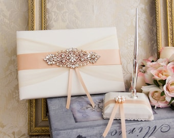 Rose Gold Wedding Guest Book Personalized Weeding Guest Book Personalized Guest Book Blush Guest Book Rose Gold Wedding Accessories