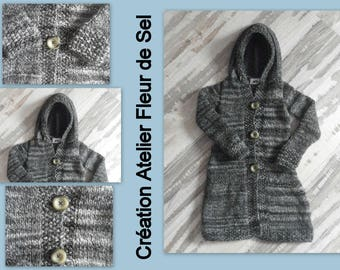 4t grey hooded jacket