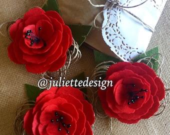 Felt Brooch, Felt Flower Brooch, Handmade Brooch, Felt Flowers Pin, Brooch, Bridesmaid Accesories, Wedding Favor