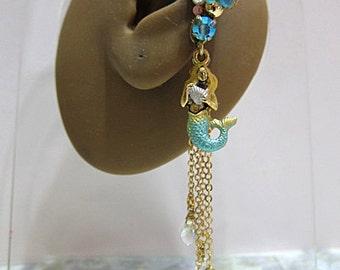 Mermaid Ear Cuff - Mermaid Earrings - Mermaid Jewelry - Ear Cuff - Nautical Ear Cuff - Nautical Earrings - Ocean Ear Cuff - Ocean Earrings