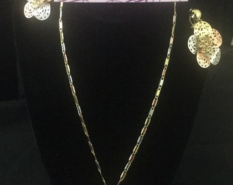Tritone Costume earring, pendant and necklace