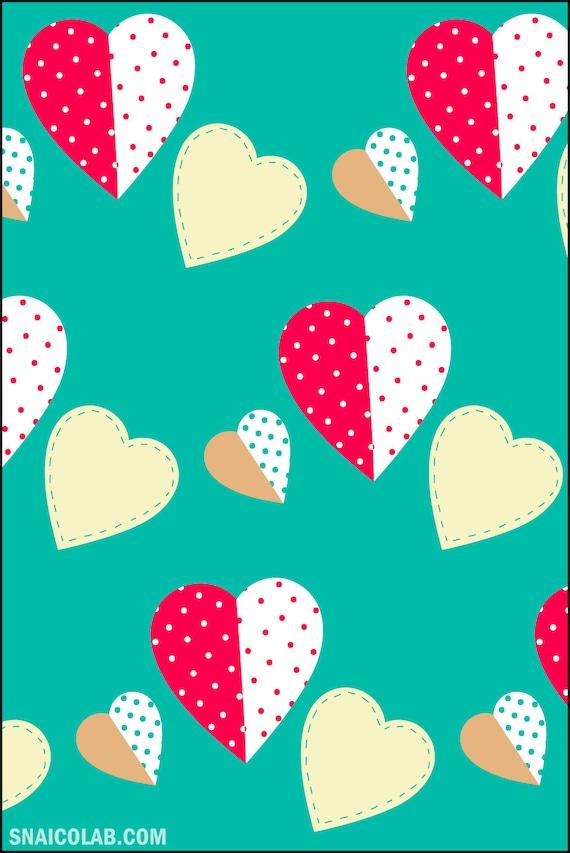 Heart ticket, greeting card, Valentine's Day card, digital illustration