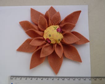 Pink Flower Broach