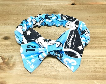 Football Headband- Football Bow Headband; Football Bow; Baby Headbands; Baby Girl Bow Headband; Baby Headband; Baby Girl Headband; Hair Bow