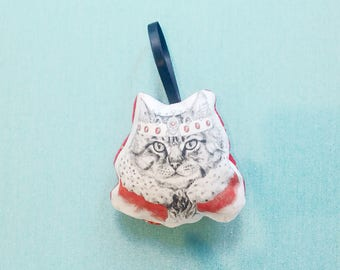 Cat Ornament, Animal Christmas Ornament