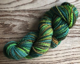 Hand spun Merino Yarn - Worsted - Redwood Park