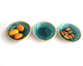 House Warming Gift, Hostess Gift, Handmade Ceramics, Small Ceramic Bowls Set of 3, Rustic Bowls, Unique Gift, Decorative Bowls, Gift Sets