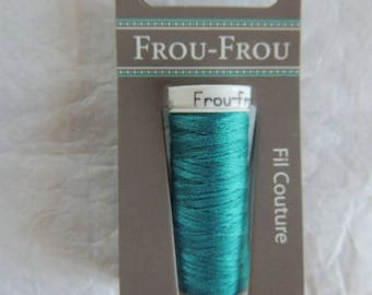 All textiles Frou-Frou Bora Bora Lagoon dark thread