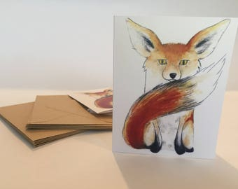 Fox Note Cards - Set of ten
