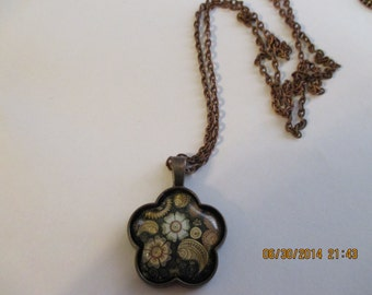 Antique Gold Paisley Necklace