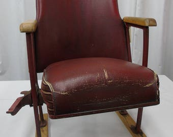 Theater Chairs. Movie Theatre Chairs. Entryway Furniture. Wood. Iron. Folding Cinema Stadium Seats. Industrial Furniture Decor. Rustic Moder