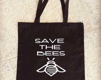 Save The Bees Tote Bag, Reusable Shopping Bag
