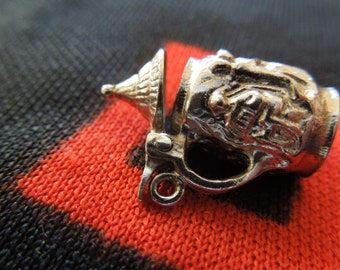 Opening Sterling Beer Stein Charm Figural Opening German Beer Stein Charm Sterling Silver Charm For Bracelet from Charmhuntress 03806