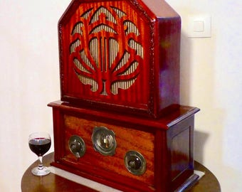Wifi and Bluetooth speaker system 1929 Kolster-Brandes Radio with a 1928 Celection C12 Speaker. 120watts!