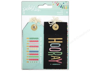 Pebbles Birthday Wishes Tags-- MSRP 4.00