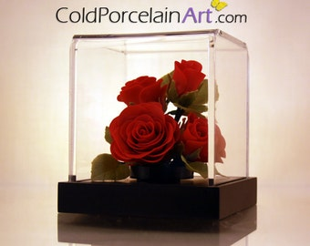 Red Roses - ColdPorcelainArt - Made to Order
