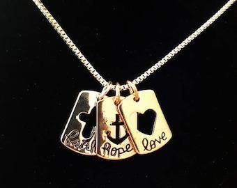 Faith Hope Love necklace