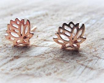 Earrings Lotus Rose Flower