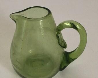 Green Bud Vase, Creamer