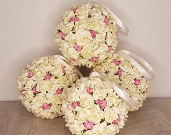 pomander, kissing ball, wedding pomander, flower ball any colour way