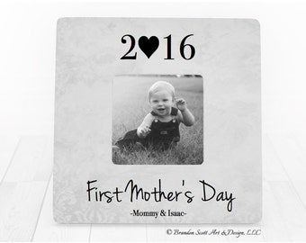 First Mothers Day Frame Gift for New Mom Gift Personalized Picture frame, Mother Frame Mommy Gift, Expecting Mom Gift, My First Mother's day