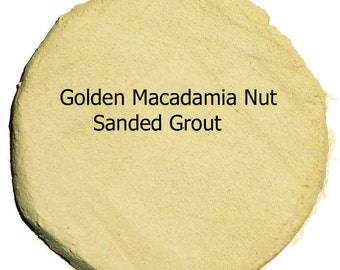 Golden MACADAMIA NUT 2 Pounds Mosaic Tile Grout Sanded Polymer Fortified for Craft Tiles and Home Projects Just Add Water