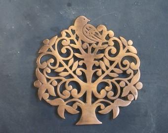 Vintage Copper Tree of Life Trivet