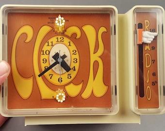 Sixties 1960s or Seventies 1970s General Electric GE Kids Girl's Working AM Clock Radio Post Modern Psychedelic Groovy Clockwork Orange
