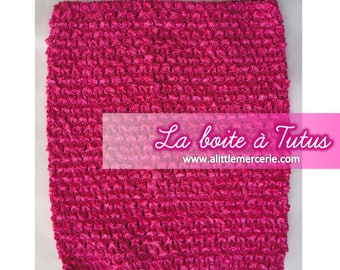 Strapless stretch stretchy crochet for baby tutu dress / girl / / Bustiers Tutu 0 6 9 12 months top hot fuchsia pink