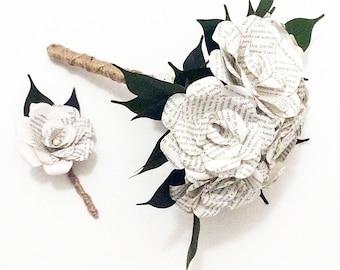 Harry Potter Bouquet, Custom Book Bouquet Wedding,Book Flowers, Paper Flower Bouquet, Paper Bouquet, Bouquet Alternative