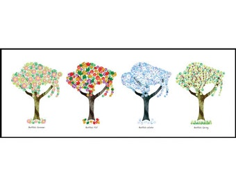 Buffalo Art Print - Buffalo Trees - Four Seasons