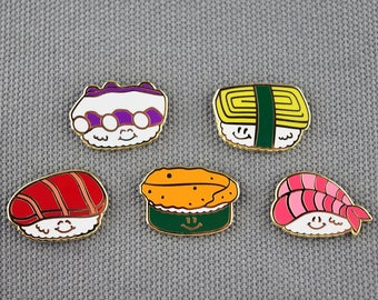 Cute Sushi Pin Sushi Lapel Pin For Her Sushi Enamel Pin Gift Cute Enamel Pin For Her Japanese Enamel Pin Idea Foodie Pin Gift For Men