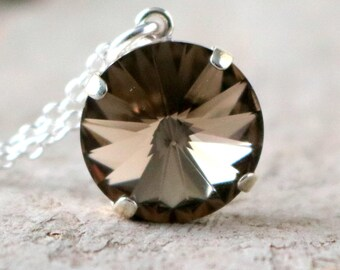 Greige | Swarovski Necklace | Crystal Necklace | Swarovski Crystal | Simple Necklace | Beach Wedding | Greige Wedding | Gift For Her