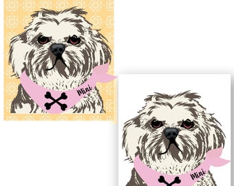 Shih Tzu Dog on Phone Case -  iPhone 6S, iPhone 6 Plus, Gifts for Pet Lovers, Samsung Galaxy S7, Gift Ideas,   iPhone 8