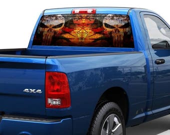Punisher 2 Rear Window Graphic Decal Sticker Truck SUV