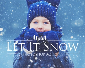 Let It Snow! Photoshop Action Christmas Overlay