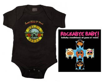 Guns N Roses Sweet Child Bodysuit and Lullaby CD Set
